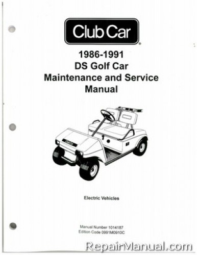 1986-1991 Club Car DS Golf Car Electric Service Manual