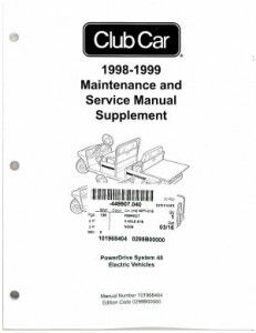 1998-1999 Club Car Power Drive System 48 Maintenance