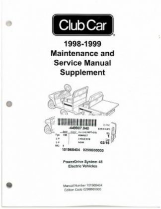 1996-1997 Club Car Carryall Maintenance And Service Manual