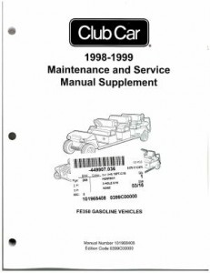 1998-1999 Club Car FE350 Maintenance And Service Manual