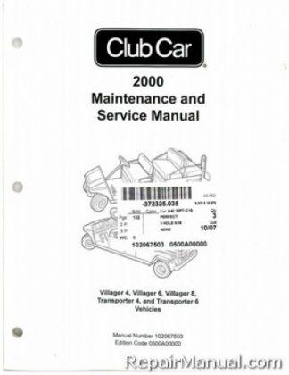 2000 Club Car Transportation Service Manual