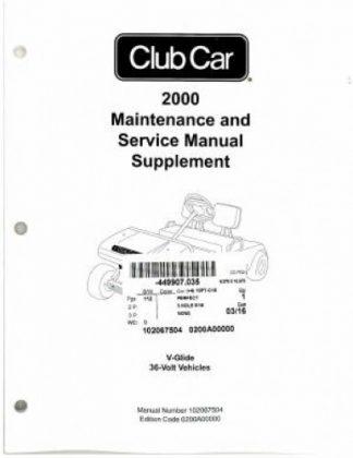 2001-2002 Club Car DS V-Glide Golf Car Maintenance And