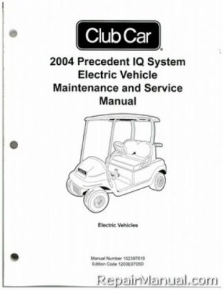 2004 Club Car Precedent IQ System Electric Vehicle