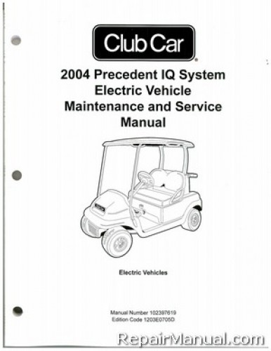2004 Club Car Precedent IQ System Electric Vehicle