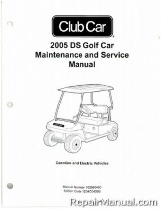 2005 Club Car Turf Carryall Turf 1, 2, and 6, Carryall 1