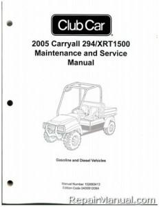 2005 Club Car Carryall 294, XRT1500 Gas Diesel Golf Cart