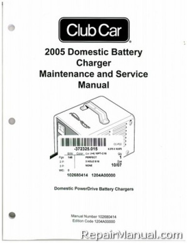 2005 Club Car Domestic Battery Charger Domestic PowerDrive Battery Chargers Service Manual