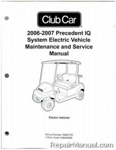 Club Car Precedent IQ System Electric Vehicle Maintenance