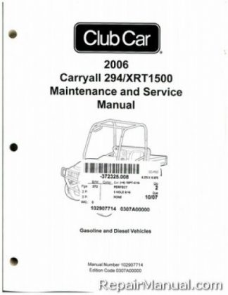 2006 Club Car Turf/Carryall Turf 1, Turf 2, Turf 6
