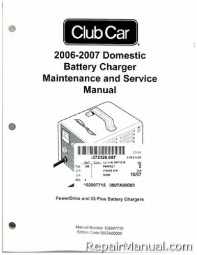 2006-2007 Club Car Domestic Battery Charger Domestic