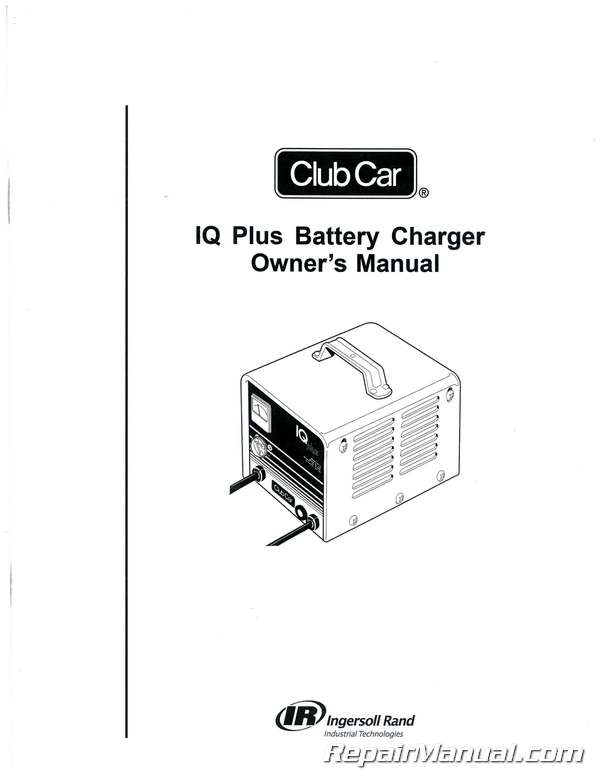 Club Car Domestic and Export IQ Plus Battery Charger