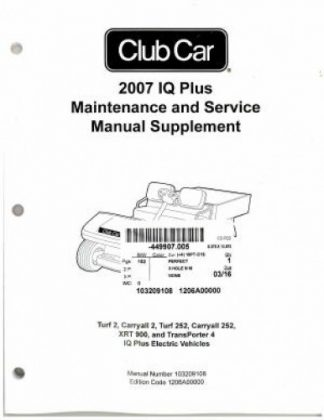 1988-1991 Club Car DS Golf Car Gas Service Manual