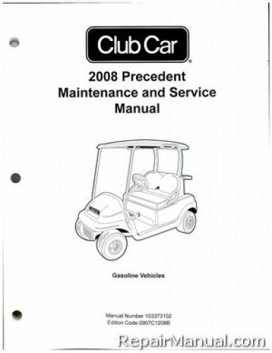 Club Car Precedent Gas Golf Cart Maintenance Service