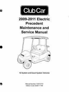 2009-2011 Club Car Electric Precedent Service Manual