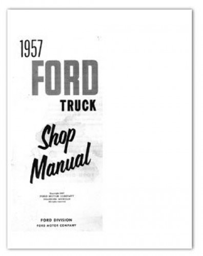 1957 Ford Truck Service Manual