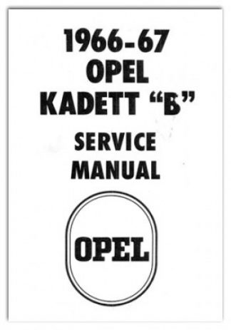 1962-1968 Opel Kadett Rally Olympia & GT 1900 Workshop Manual