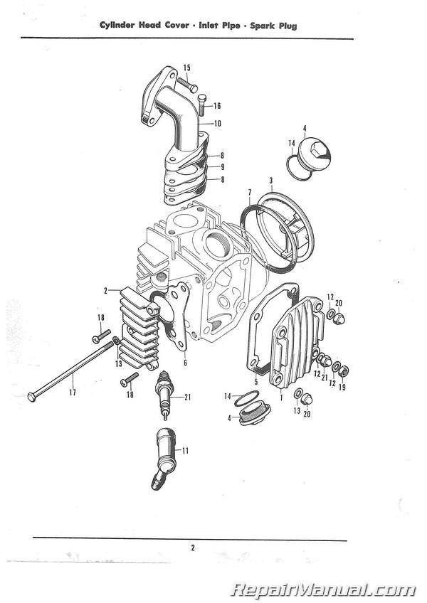 1968-1974 Honda Z50A Motorcycle Parts Manual