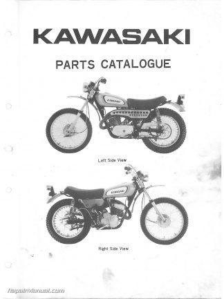 1970-1971 Kawasaki 350 F5 F5A Bighorn Motorcycle Parts Manual