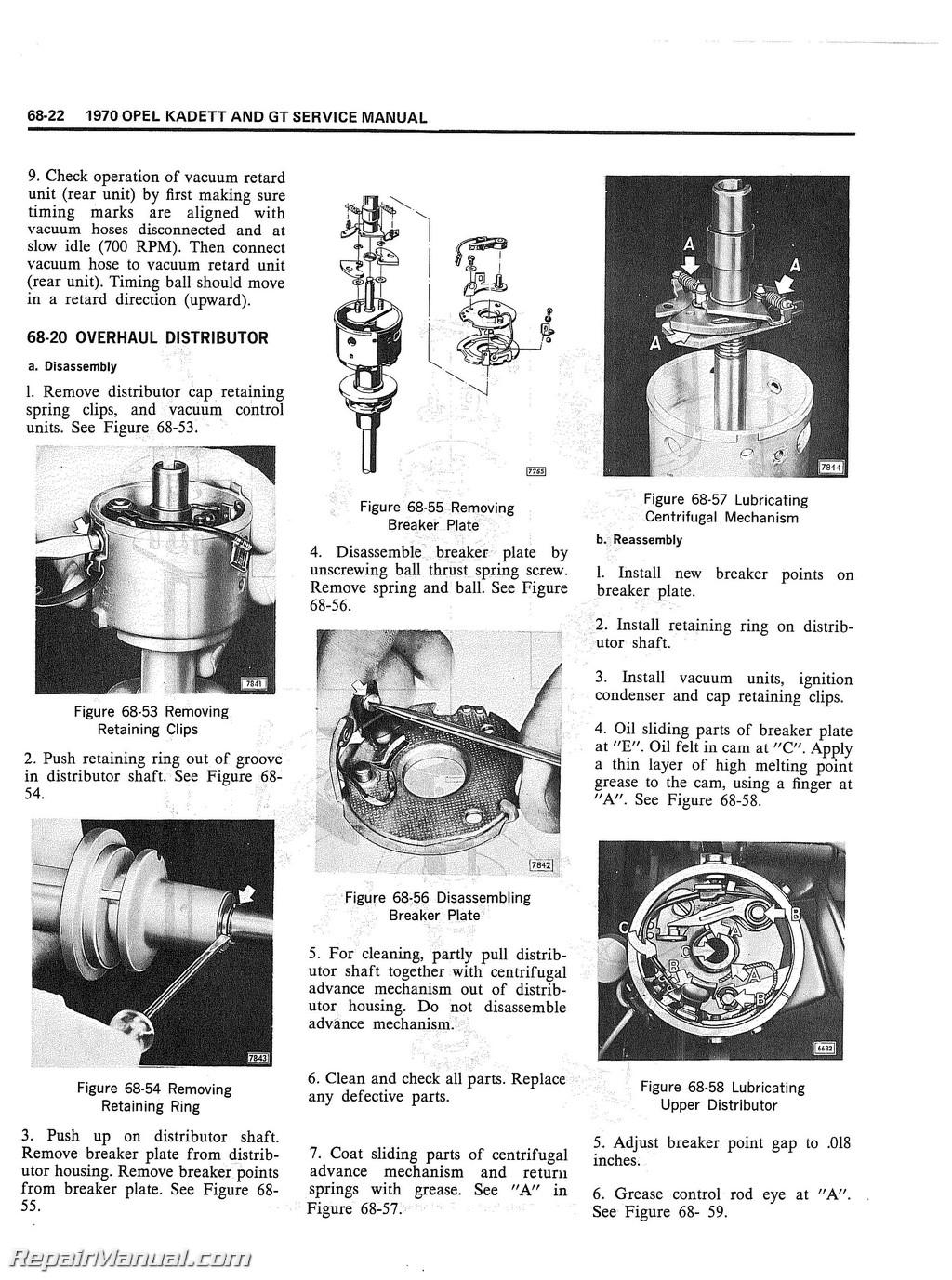 golf wiring diagram inner heart 1970 opel kadett & gt service manual