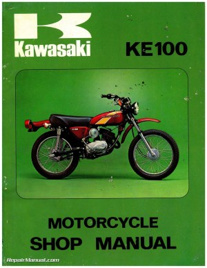19711981 Kawasaki G5 KE100 Motorcycle Service Manual
