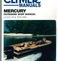 1972 1989 mercury 45 225 hp clymer outboard boat engine repair manual [ 1024 x 1325 Pixel ]