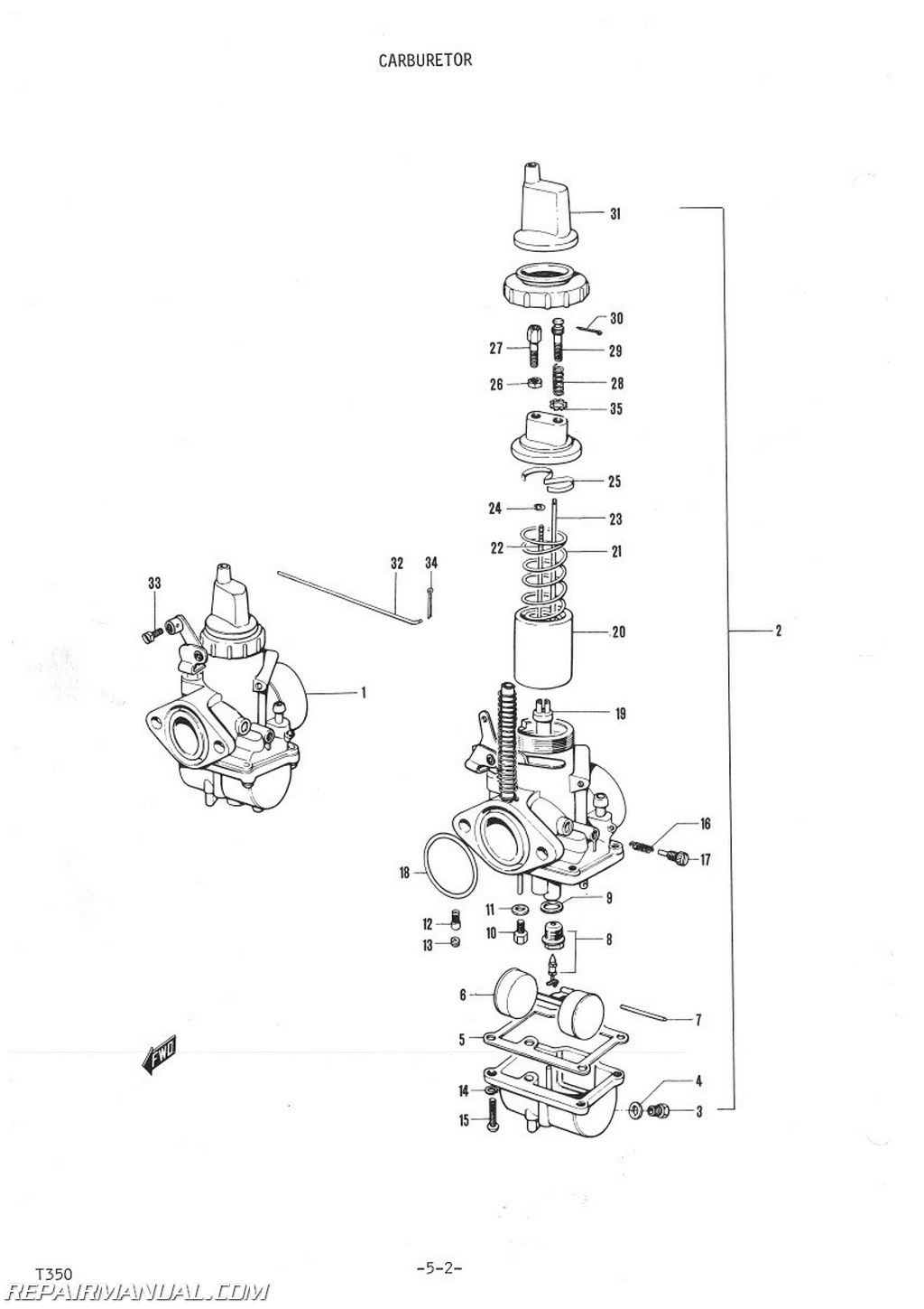 1972 Suzuki T350 Parts Manual