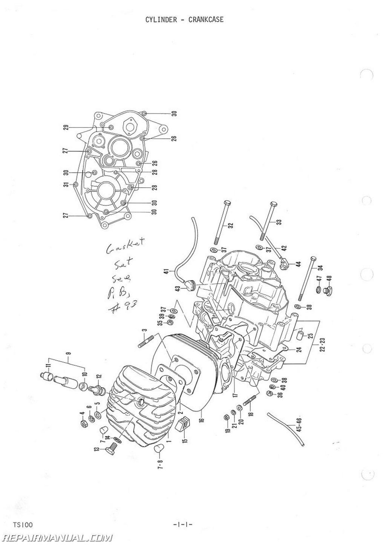 Suzuki Ts100 Tc100 Parts Manual