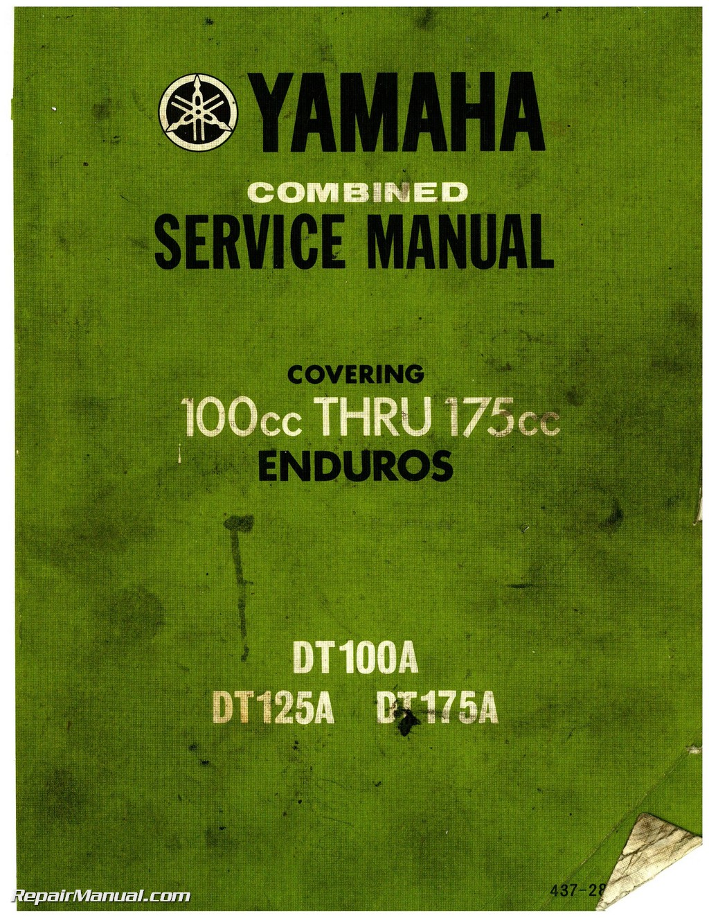 hight resolution of 1974 yamaha dt100 dt125 dt175 enduro motorcycle service manual 1974 yamaha dt 100 wiring diagram