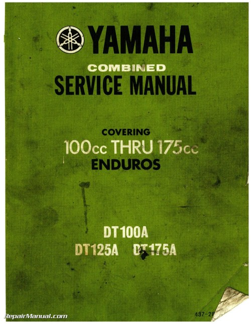 small resolution of 1974 yamaha dt100 dt125 dt175 enduro motorcycle service manual 1974 yamaha dt 100 wiring diagram
