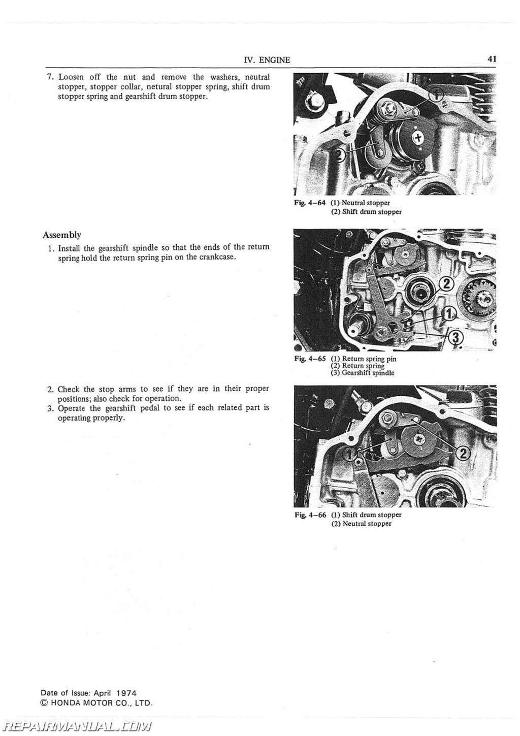 1975-1976 Honda CB500T Motorcycle Service Manual