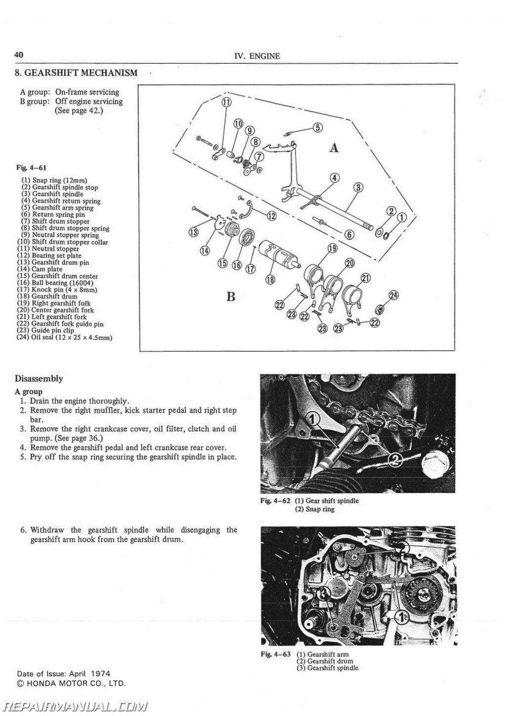 1975 Honda cb500t service manual