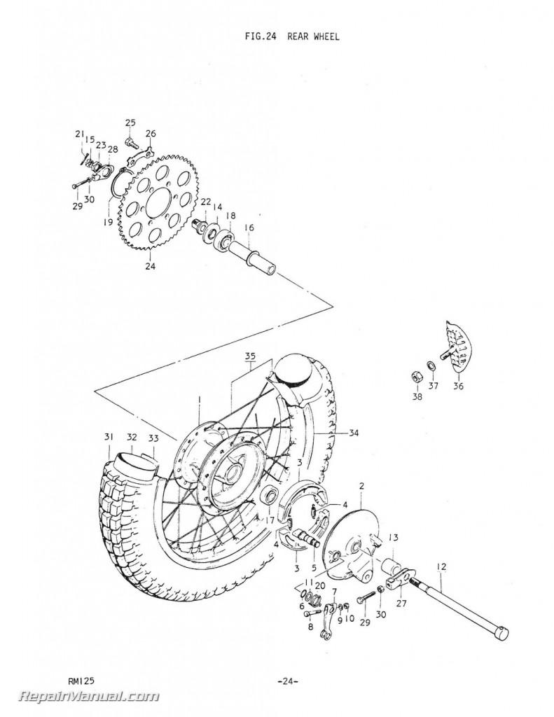 1975 Suzuki RM125M Motorcycle Parts Manual