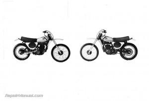 1975 Yamaha YZ250B YZ360B Motorcycle Owners Manual