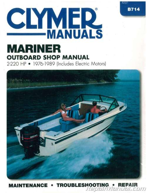 small resolution of 1976 1989 mariner 2 220 hp outboard boat engine repair manual
