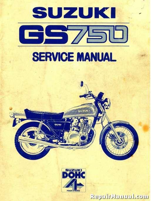 4 Stroke Motorcycle Engine Diagram Suzuki Gs 750 Motorcycle Service Manual 1977 1978 Repair