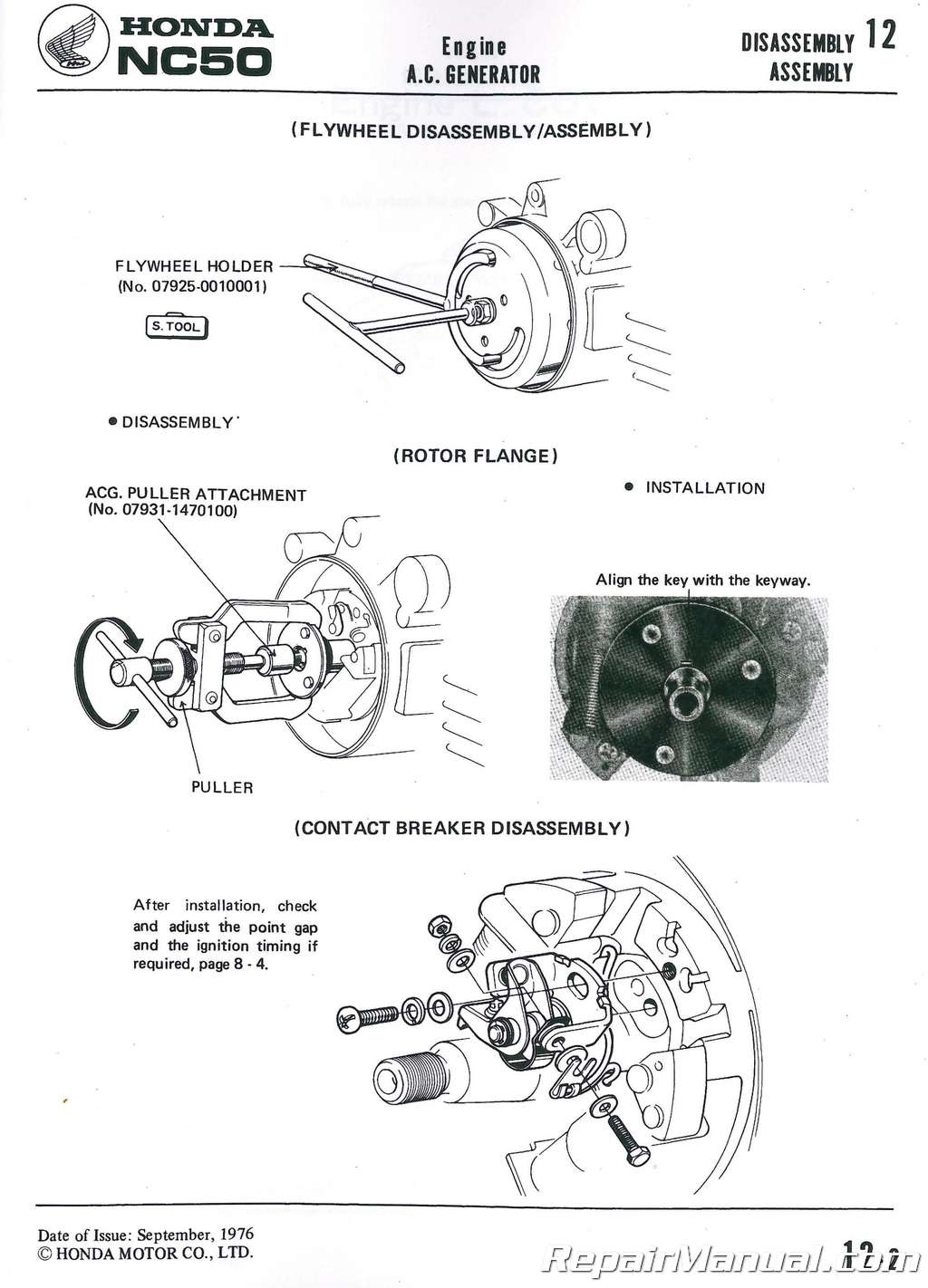 1977-1983 Honda NA NC50 EXPRESS Scooter Shop Manual