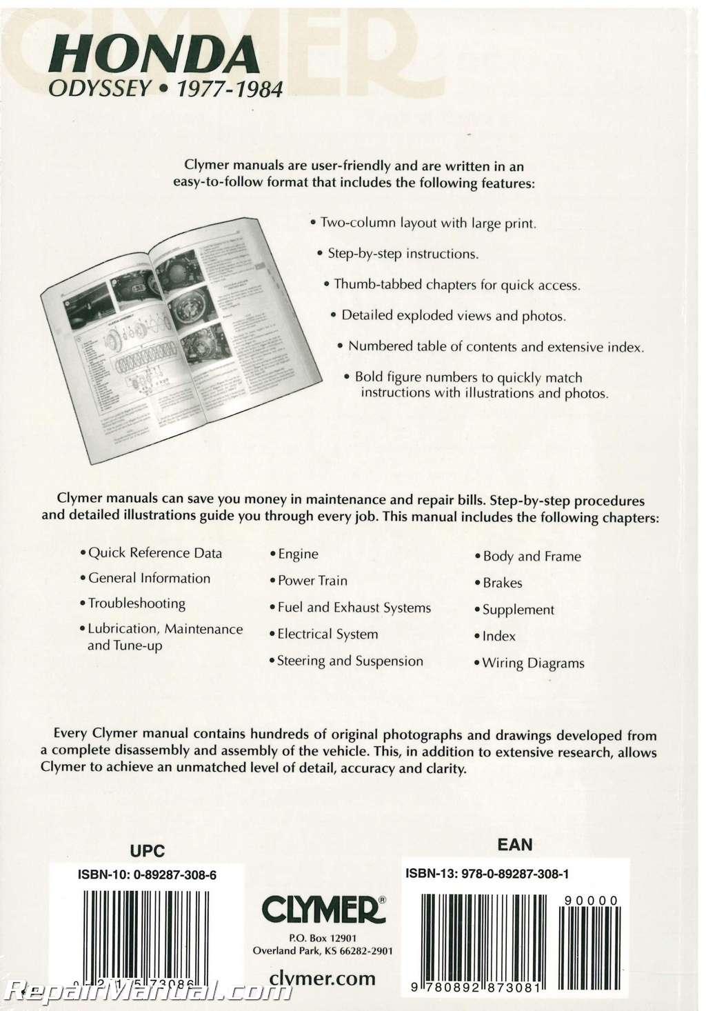 hight resolution of  1977 1984 honda odyssey fl250 repair manual by
