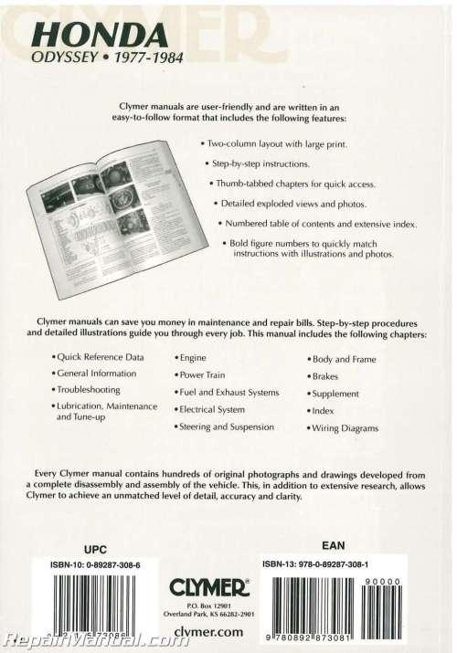 small resolution of  1977 1984 honda odyssey fl250 repair manual by