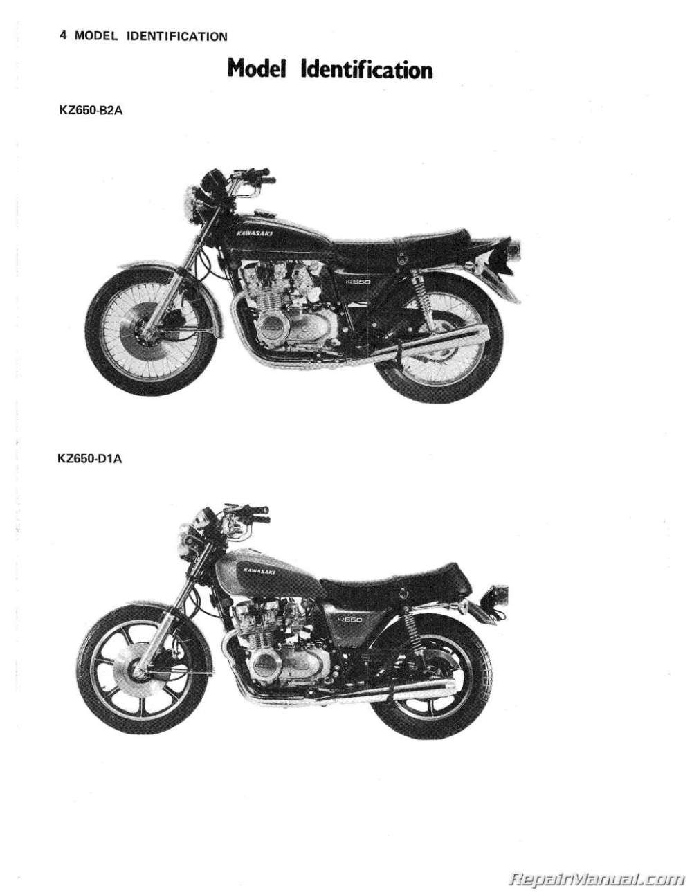 medium resolution of 1978 1980 kawasaki kz650 motorcycle repair manual