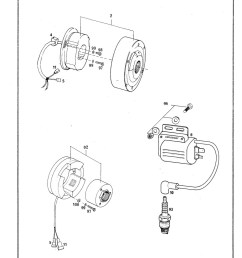 1978 1979 ktm 125 175 240 250 340 400 motorcycle engine spare parts manual [ 1024 x 1381 Pixel ]