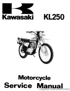 1978-1979 Kawasaki KL250 Motorcycle Service Manual
