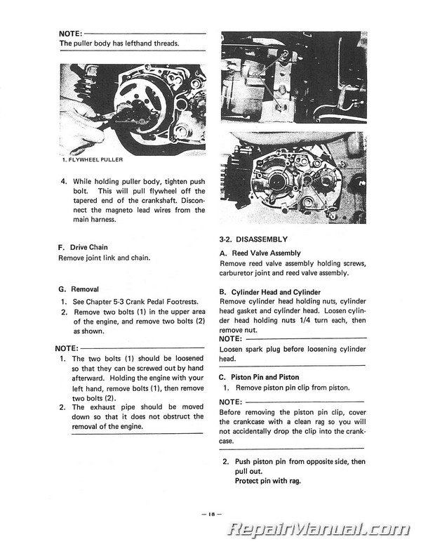 1978-1982 Yamaha LB50P Chappy Scooter Service Manual