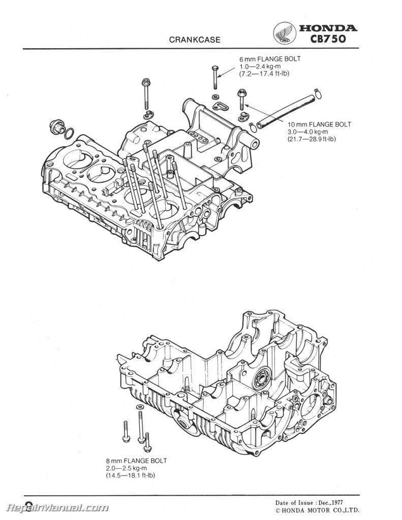 1978 Honda CB750K8 CB750F3 Motorcycle Service Manual