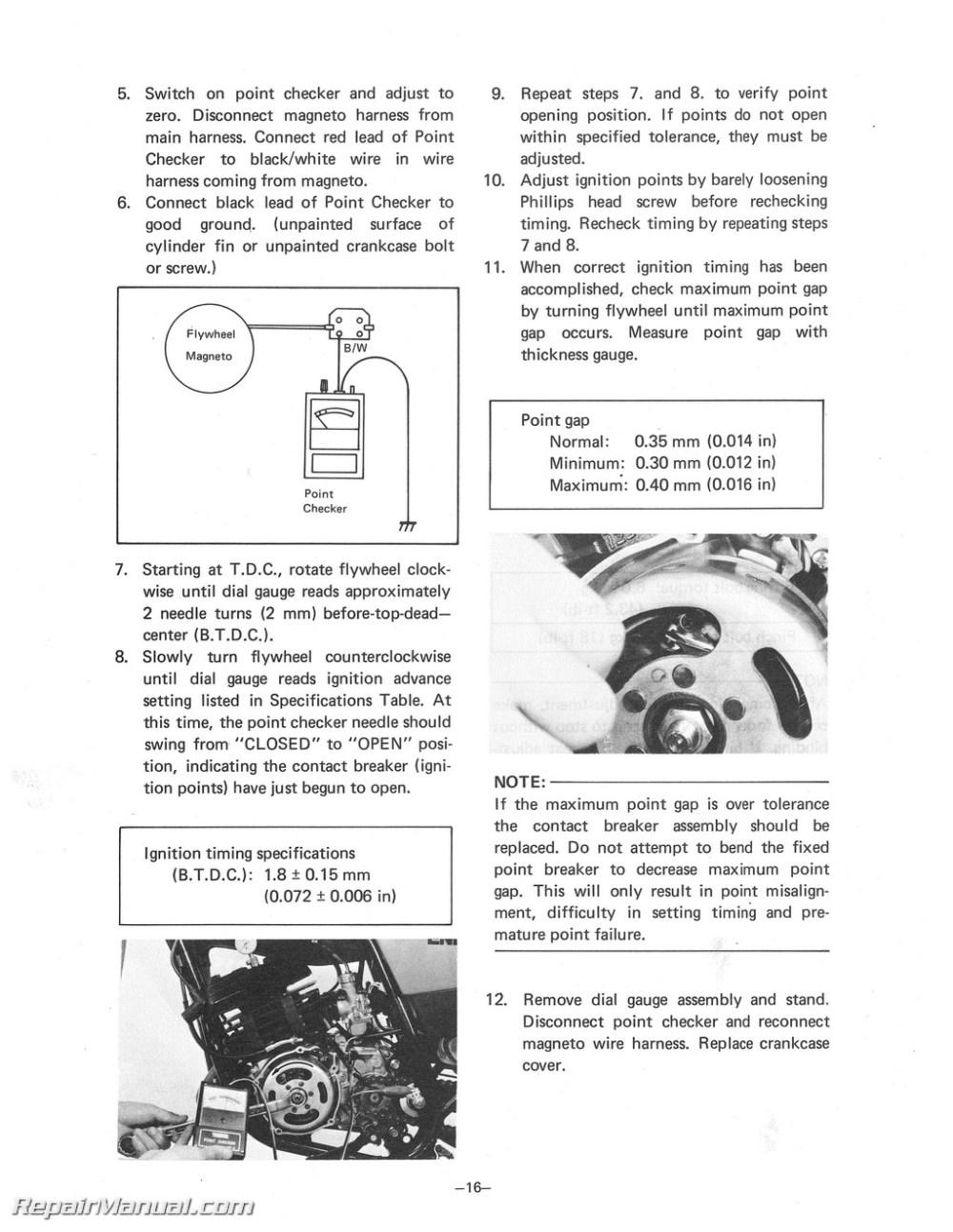 medium resolution of yamaha dt 175 wiring harnes