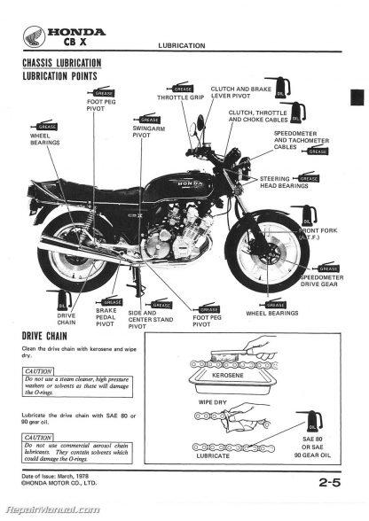 1979-1980 Honda CBX1000 Motorcycle Service Manual