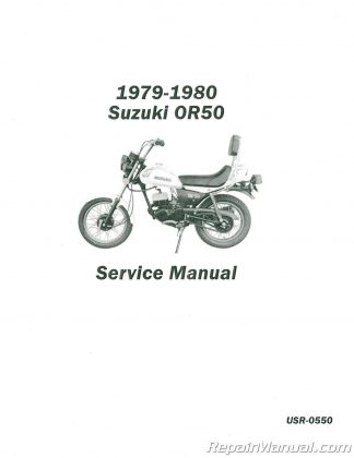 1979-1980 Suzuki OR50 Service Manual