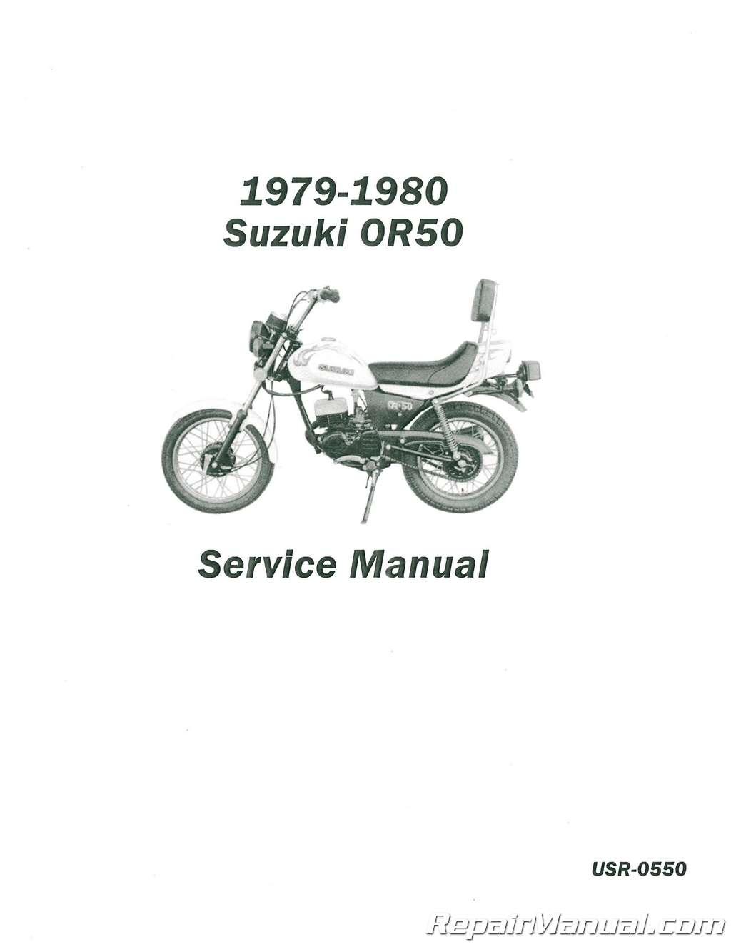 1979-1980 Suzuki OR50 Service Manual