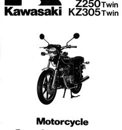 1979 1982 z250 1981 1983 kz305 1983 ex305 1983 er250 kawasaki manual [ 1024 x 1370 Pixel ]