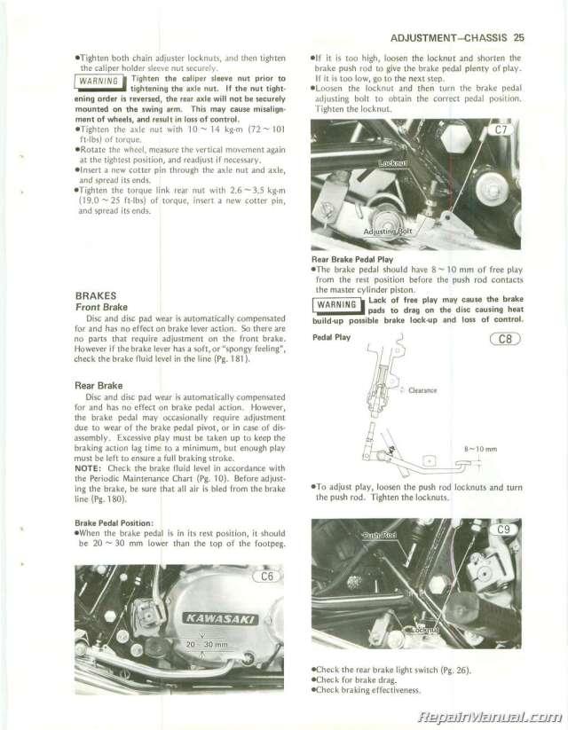 1982 Kawasaki Spectre 750 Wiring Diagram