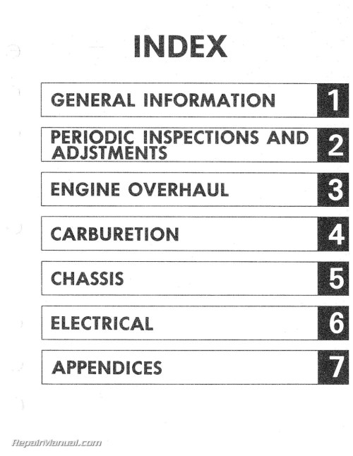 small resolution of 1980 1982 yamaha sr250 exciter motorcycle service manual yamaha 250 exciter wiring diagram
